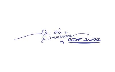 Logo de GDF Suez / Là où je t'emmènerai